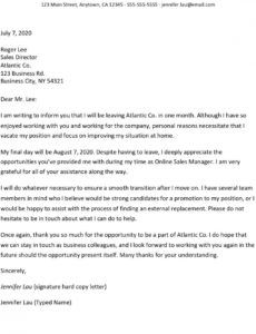 resignation letters for personal reasons sales resignation letter pdf