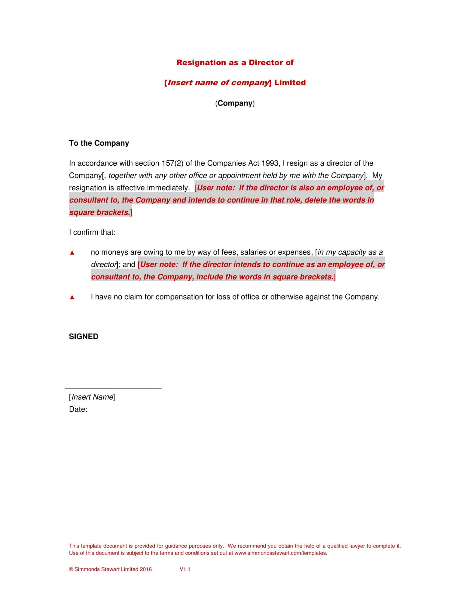 sample board resignation letter with examples in pdf  examples non profit board resignation letter word