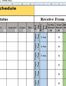sample daily production schedule template excel  free excel manufacturing schedule template excel