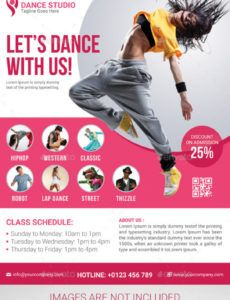 sample dance class graphics designs & templates from graphicriver dance studio schedule template sample