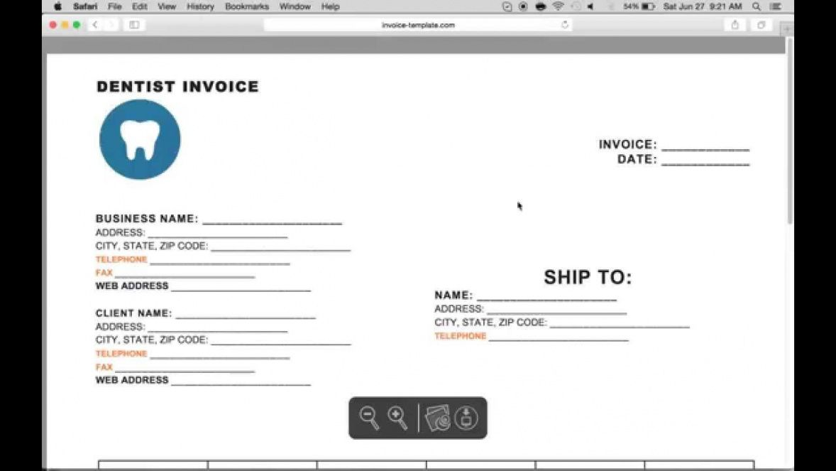 sample how to make a dental invoice  excel  word  pdf dentist bill template doc