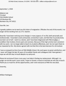 sample resignation letter examples due to health issues health care resignation letter excel