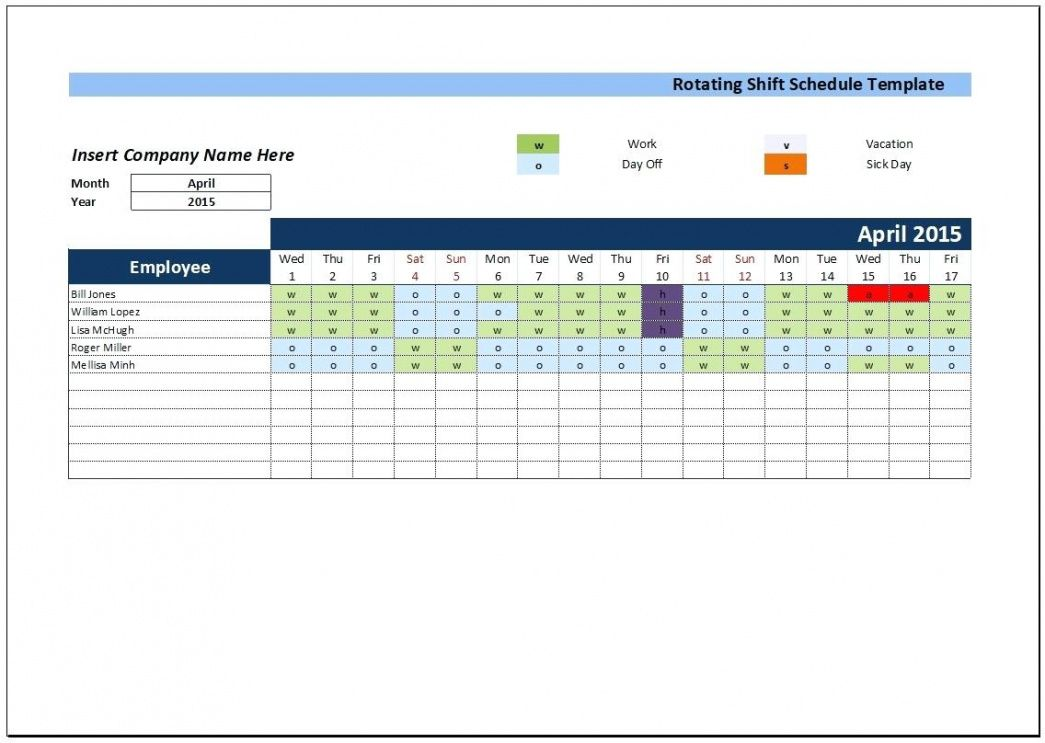 sample rotating shift schedule template ~ addictionary 3 shift work schedule template pdf
