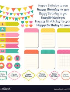 sample set of birthday party design elements template birthday party schedule template word