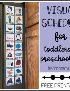 visual schedule for toddlers autism visual schedule template doc