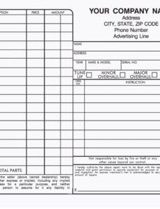 3 part auto repair order forms automotive repair order template word