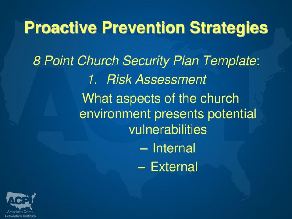 church crime prevention  ppt download church security plan template excel