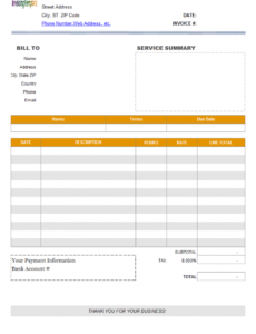 daycare invoice template child care bill template sample