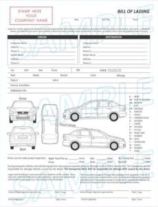details about 3 part vehicle transport bill of lading form vehicle bill of lading template
