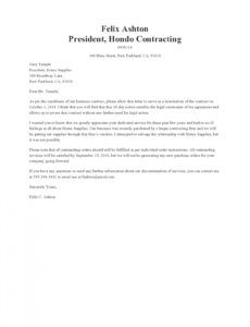 editable 50 editable contract termination letters free independent contractor resignation letter doc