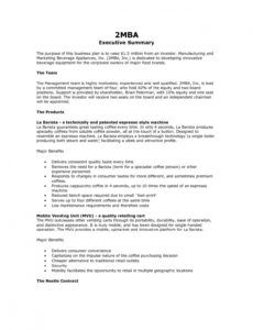 editable 9 executive summary marketing plan examples  pdf word summary plan description template example