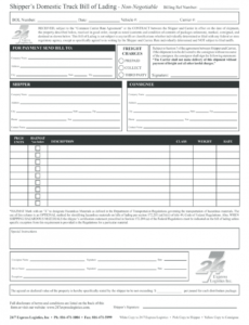 editable bill of lading form  fill online printable fillable truck bill of lading template doc