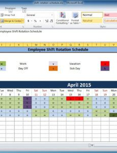 editable free employee and shift schedule templates weekly rotation schedule template word