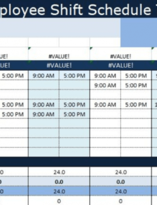 editable guide to use employee shift schedule template excel employee shift work schedule template sample