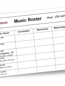 editable liturgytools blank template for a church music roster church service schedule template excel