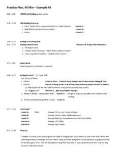 editable practice plans for skill development of youth baseball and softball practice schedule template