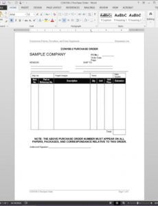 editable project purchase order template  con1082 construction purchase order template sample