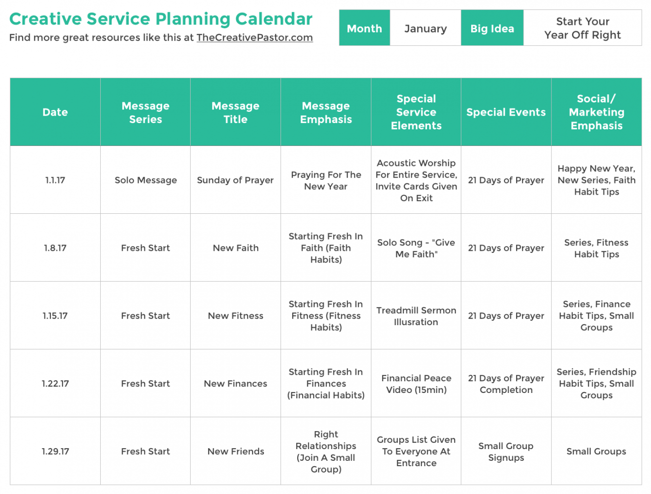 editable the essential planning calendar your church needs to be church service schedule template excel