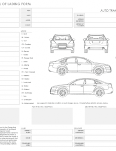 free free bill of lading templates  smartsheet vehicle transport bill of lading template word