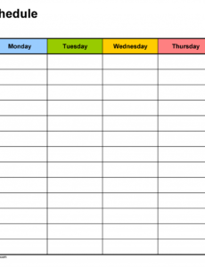 free free weekly schedule templates for word  18 templates 6 day work schedule template