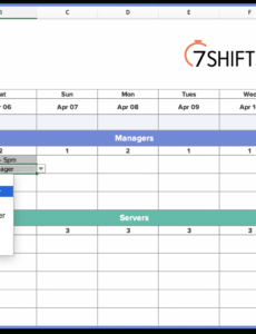 free how to make a restaurant work schedule with free excel restaurant manager schedule template example