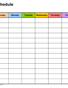 free weekly schedule templates for word  18 templates monday to sunday schedule template example