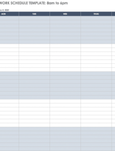 free work schedule templates for word and excel smartsheet 6 day work schedule template doc