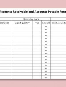 free wps template  free download writer presentation schedule of accounts receivable template sample