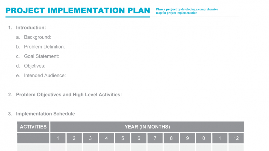 implementation plan  pmd pro project implementation plan template doc