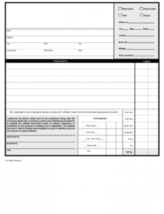 mechanic work order pdf  fill out and sign printable pdf template  signnow automotive repair order template sample