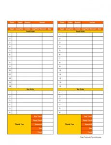 printable free 9 restaurant forms in pdf  ms word restaurant order guide template pdf