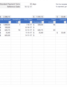 printable free accounting templates in excel  download for your business schedule of accounts receivable template