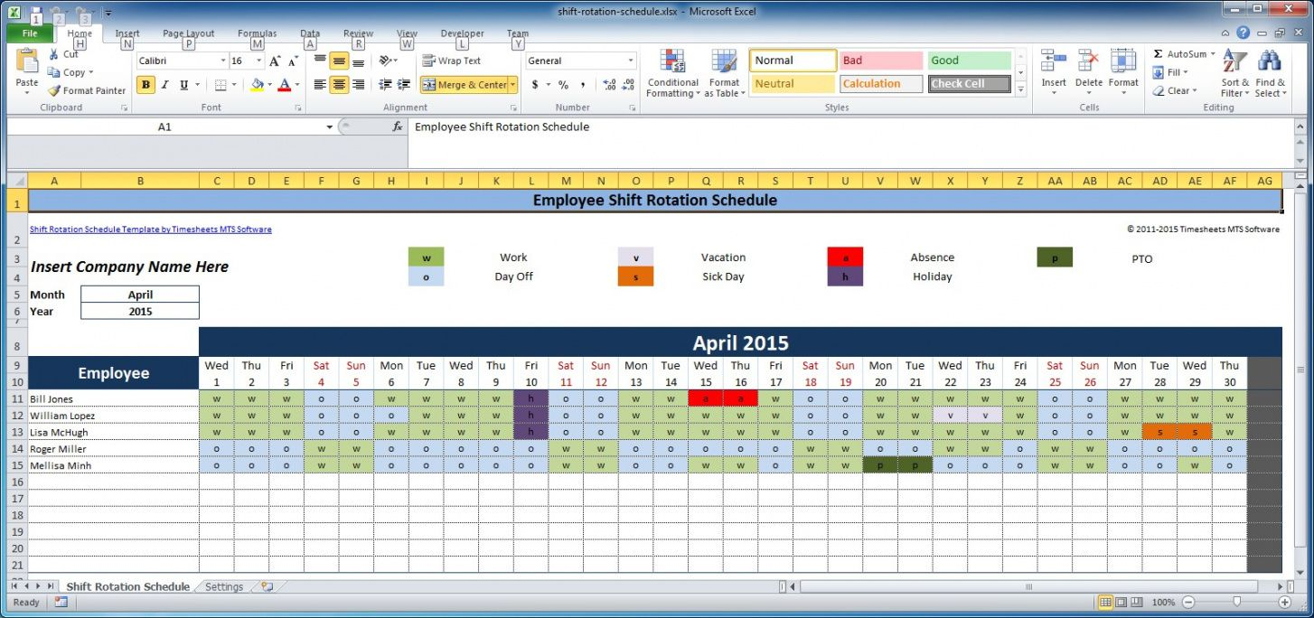 printable free employee and shift schedule templates employee coverage schedule template