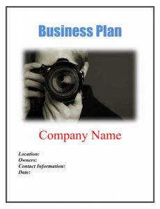 printable photography business plan template sample pages  black box photography business plan template pdf