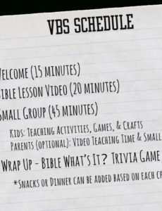 printable what's in the bible? vbs  whats in the bible vacation bible school schedule template example