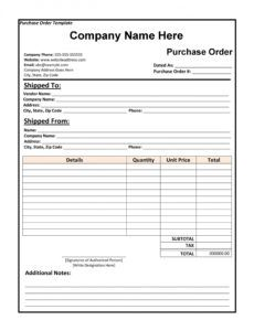 sample 43 free purchase order templates in word excel pdf construction purchase order template