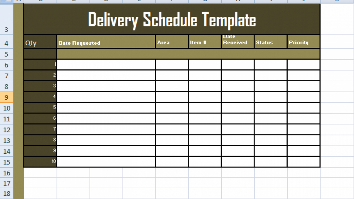 sample delivery schedule template excel  free excel spreadsheets truck delivery schedule template example