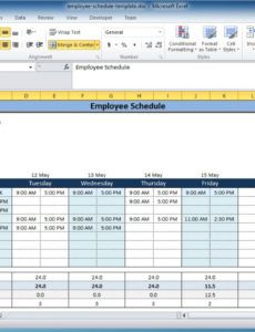 sample free employee and shift schedule templates multiple employee schedule template example