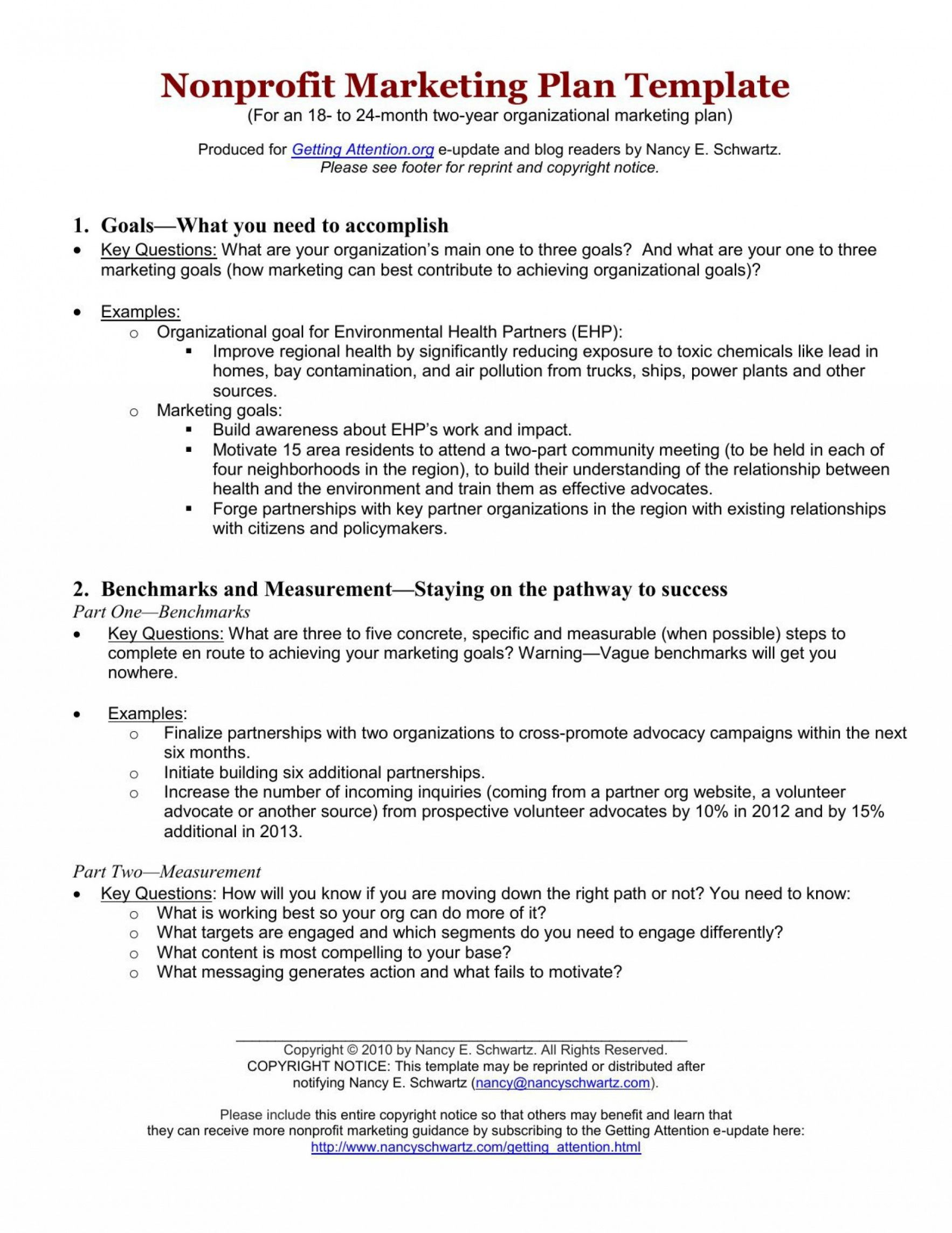 sample nonprofit marketing plan template ~ addictionary nonprofit marketing plan template sample