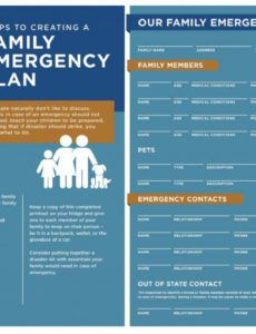 sample steps to creating a family emergency plan  kbg injury law family emergency plan template excel