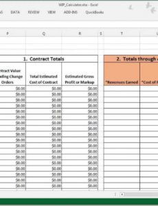sample wip calculations can be easy! work in progress schedule template pdf