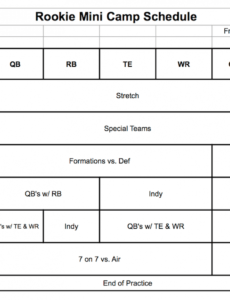 youth football practice plan is essential  firstdown playbook football camp schedule template pdf