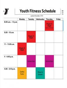 editable free 10 fitness schedule examples & samples in pdf  google group exercise schedule template pdf