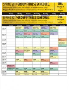 printable free 10 fitness schedule examples & samples in pdf  google group exercise schedule template word
