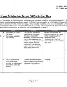 Best Employee Engagement Action Plan Template Excel