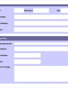 Editable Engineering Change Order Form  Example