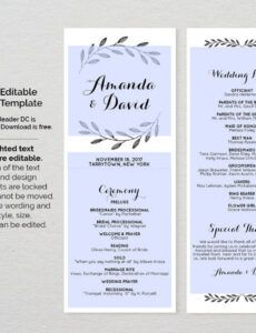 Editable Wedding Ceremony Order Template Pdf Sample