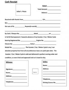 Free Cash Payment Slip Template Doc Example