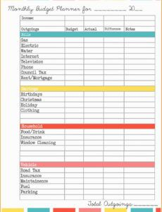 Free Debt Management Plan Template Word Sample