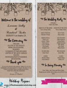 Free Wedding Ceremony Order Template Word Sample